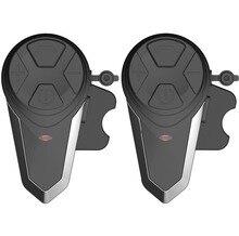 2 uds BT S3 intercomunicador para casco de motocicleta moto Auriculares inalámbricos con Bluetooth impermeable Interphone de la función de Radio FM auriculares