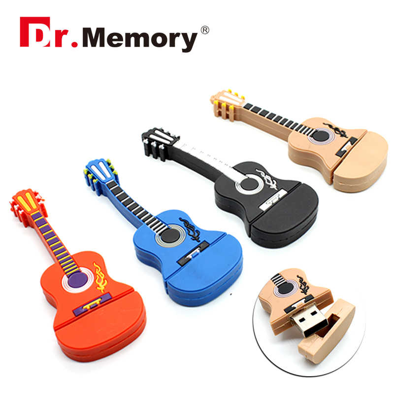 Fashion 3D Musical Instruments Guitar USB Flash Drives 4GB 8GB 16GB 32GB 64GB Memory Stick High Speed U Disk Pen Drive Best Gift