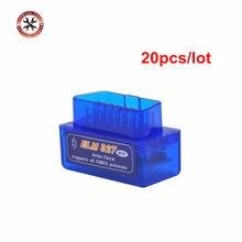 Herramienta de diagnóstico OBD2 ELM 327 V2.1, Super Mini ELM327, Bluetooth, versión más reciente, 20 unids/lote, Envío Gratis