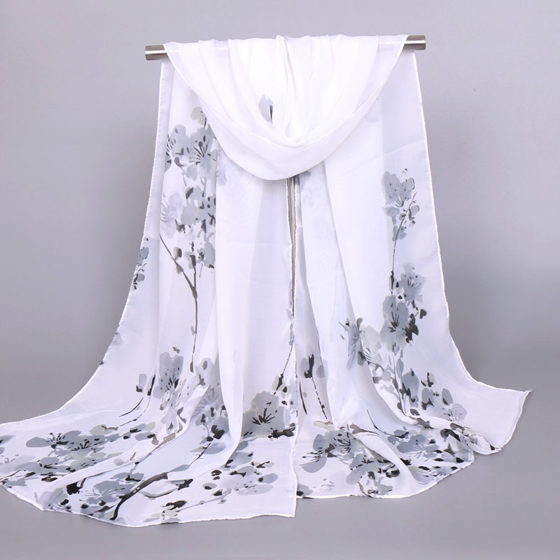 Pink Blossoming Silk Scarf Series Chinese Wind Scarf Popular Ethnic Flavor Scarf Gifts XQ229