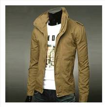 Latest Winter Autumn Casual Man Jacket Collar British Style Male Korean Thin Section Solid Color Coat