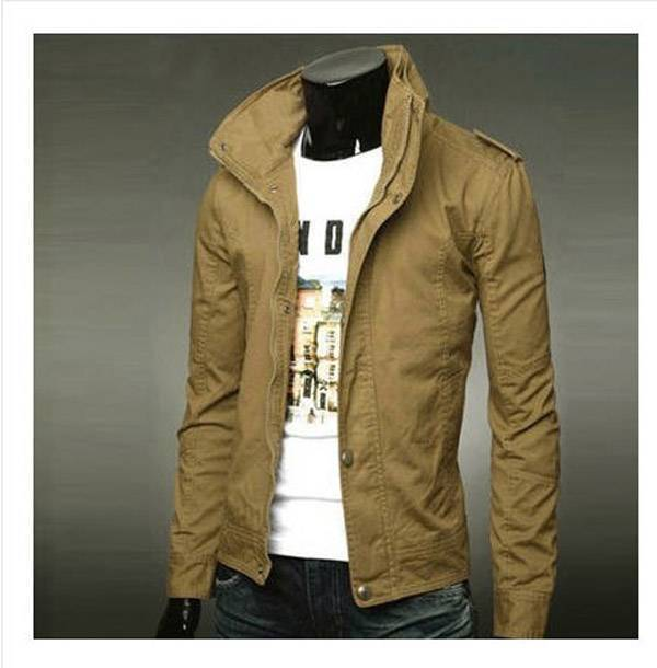 Latest Winter Autumn Casual Man font b Jacket b font Collar British Style Male Korean Thin