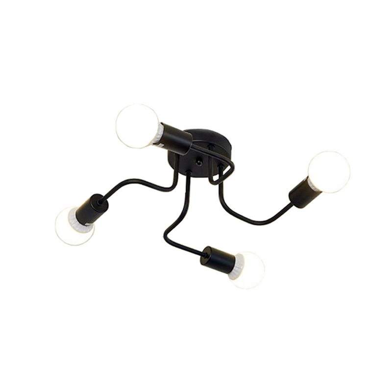 Retro Industrial Loft Nordic Pipe Wrought Iron Ceiling Light 4 Heads Lamp for Home Decor Restaurant Innrech Market.com