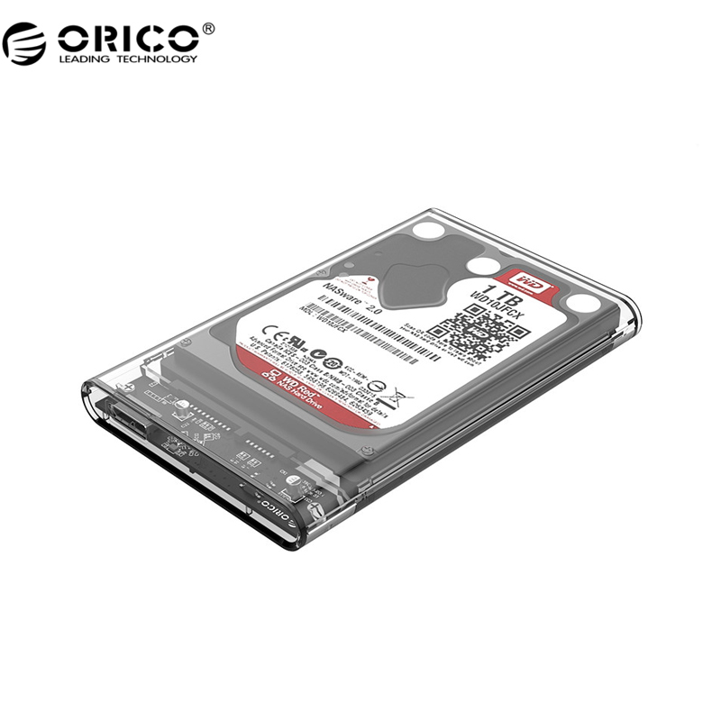 ORICO 2139U3 Hard Drive Enclosure 2.5 inch Transparent USB3.0 Hard Drive Enclosure Support UASP protocol