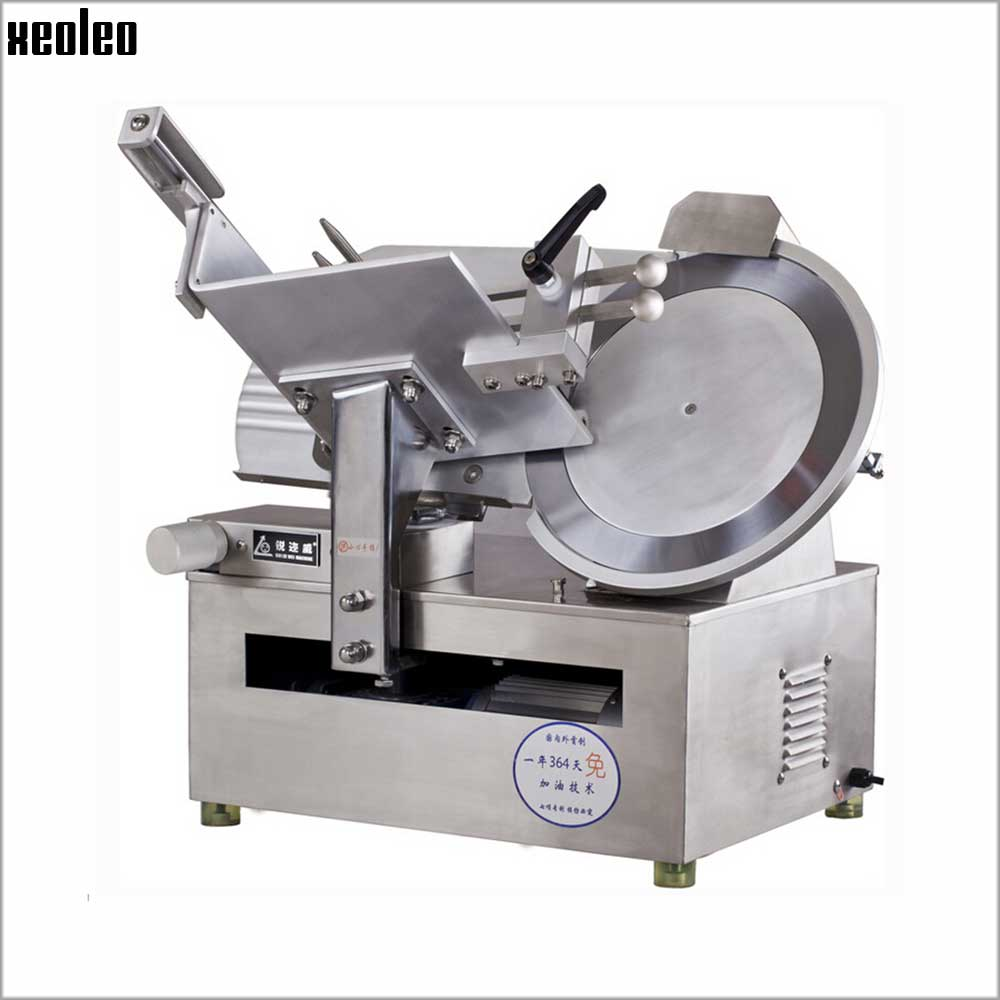 Xeoleo Commercial 14inch Electric Automatic Meat Slicer High Speed Meat Slice Machine(6000pc/H)  Stainless Steel Slicing Machine