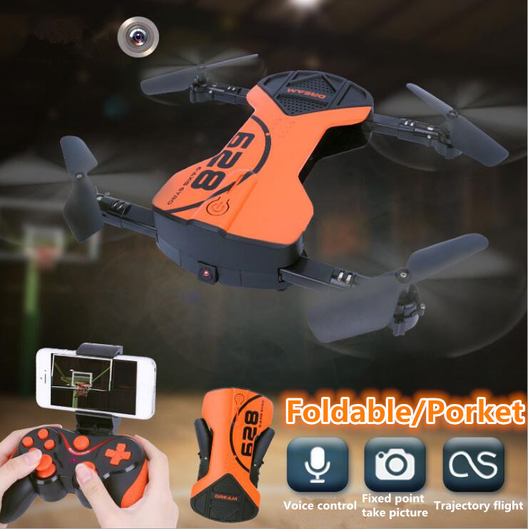 New hot Mini pocket Folding RC quadcopter HC-628 2.4G WIFI FPV Foldable RC Drone with Wifi camera and height hold Mode vs H37 S6 jjrc h49 sol ultrathin wifi fpv drone beauty mode 2mp camera auto foldable arm altitude hold rc quadcopter vs e50 e56 e57