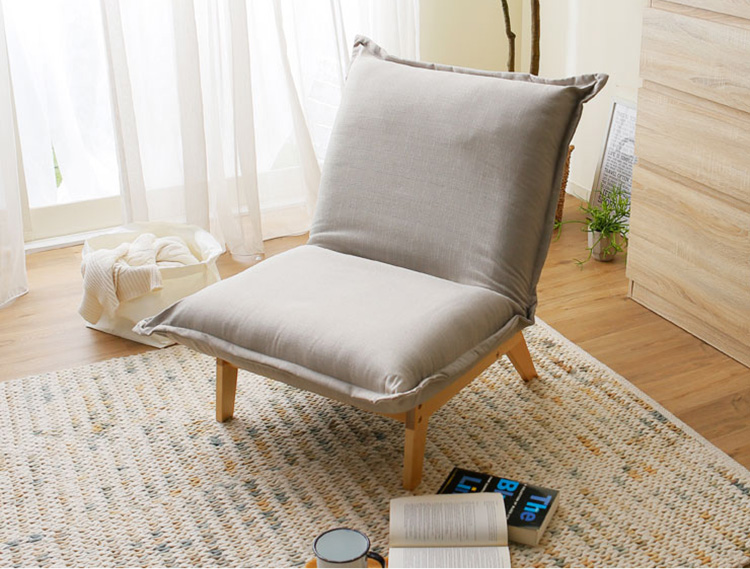 Meubles rembourrés Japonais Style Unique Canapé Loisirs Chaise Sans Bras Inclinable Salon Occasionnelle Accent Chaise Pliable