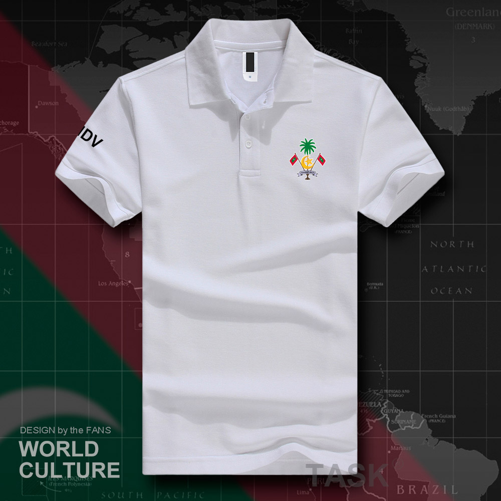 Maldives MDV Maldivian Maldivians MV polo shirts men short sleeve white brands printed for country 2018 cotton nation team 20
