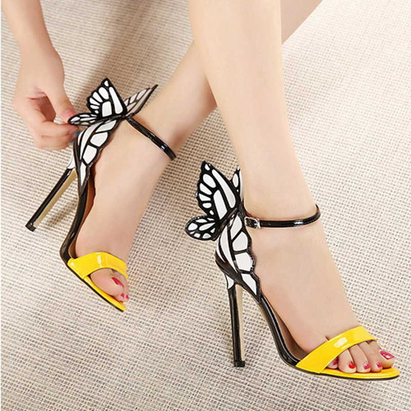 32adbd1c582b sophia webster women Sandal summer sexy open toe high heeled butterfly  shoes lady brand designer high heel sandals shoes woman-in Women s Sandals  from Shoes ...
