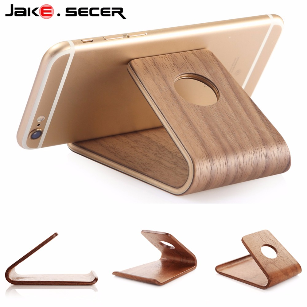 Universal Phone Holder wood Anti-slip Cell Phone Holders Desktop Desk Mount Phone Stand for iPhone Smartphone Samsung Tablet mobile phone