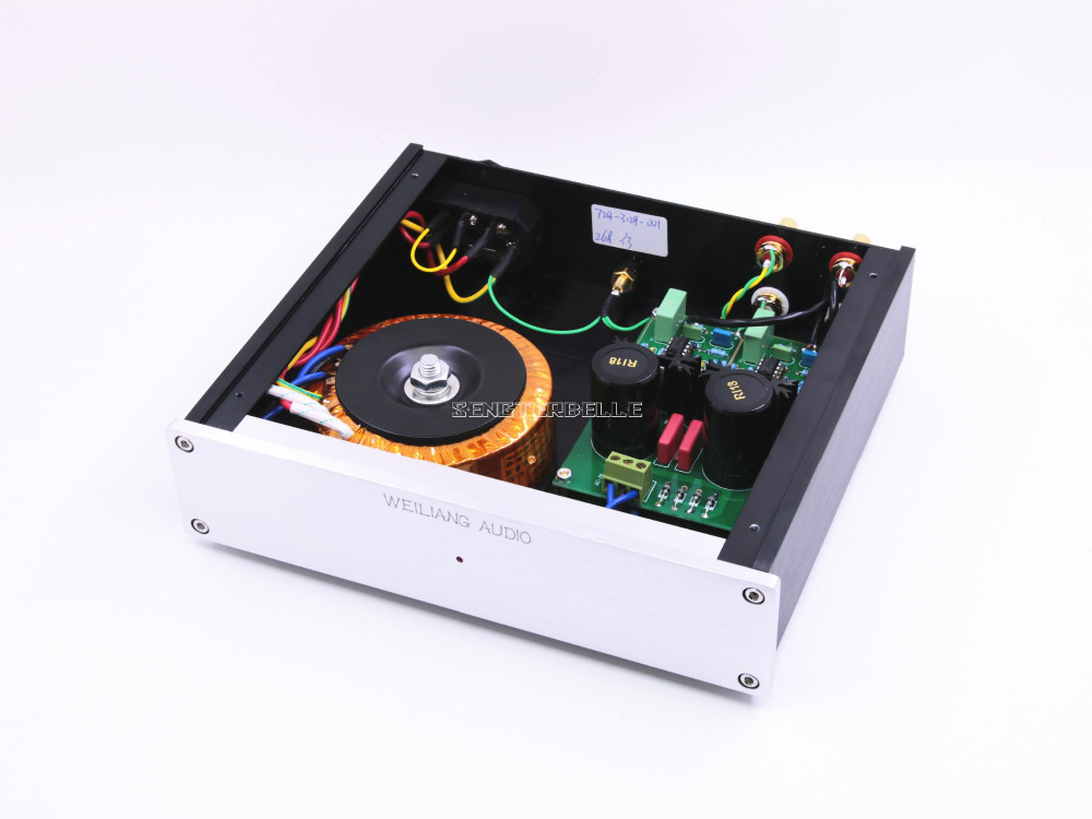 Finished HIFI DUAL Circuit turntable MM/MC Assembled Amplifier For Phono Stage finished ct3 tube mm mc phono stage completed set
