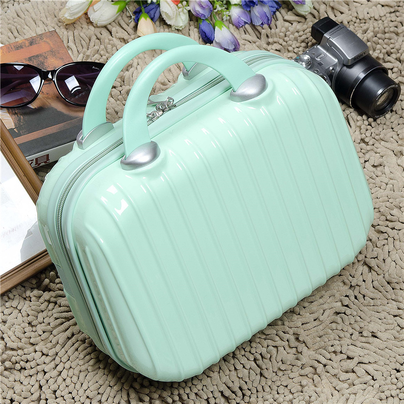 Cute Korea 2016 fashion new female cosmetics case Princess woman hand carry the box marriage box 14 inch suitcase