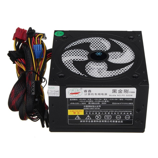 Desktop Power 500W Quiet Power Switching 12V ATX BTC Power Supply 2
