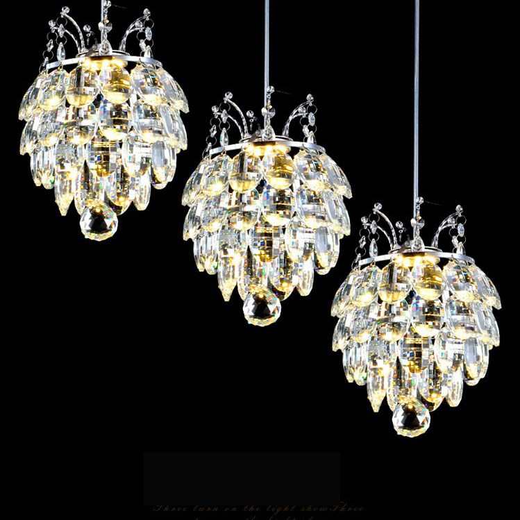 цена Bar chandelier crystal lighting Restaurant hanging crystal lamp luxury crystal chandelier hanging crystal lamp kitchen онлайн в 2017 году