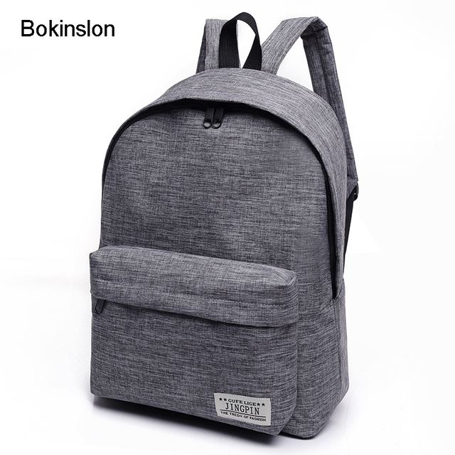 8912e0afa9b3 Bokinslon Women Backpack Man Popular Solid Color Backpack For Woman School  Bag College Wind Small Fresh