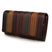 Brand Retro Vintage Women Long Leather Wallet Classic Chinese Style Genuine Leather Clutch Purse Female Designer
