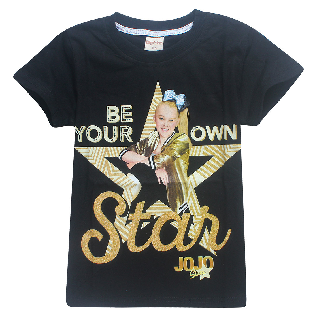 2018 New Summer Jojo Siwa Shirts Baby Girls Tshirts Short Sleeve T Shirts for Kids Bobo Choses T-shirt Child Sport Clothes 4-12Y