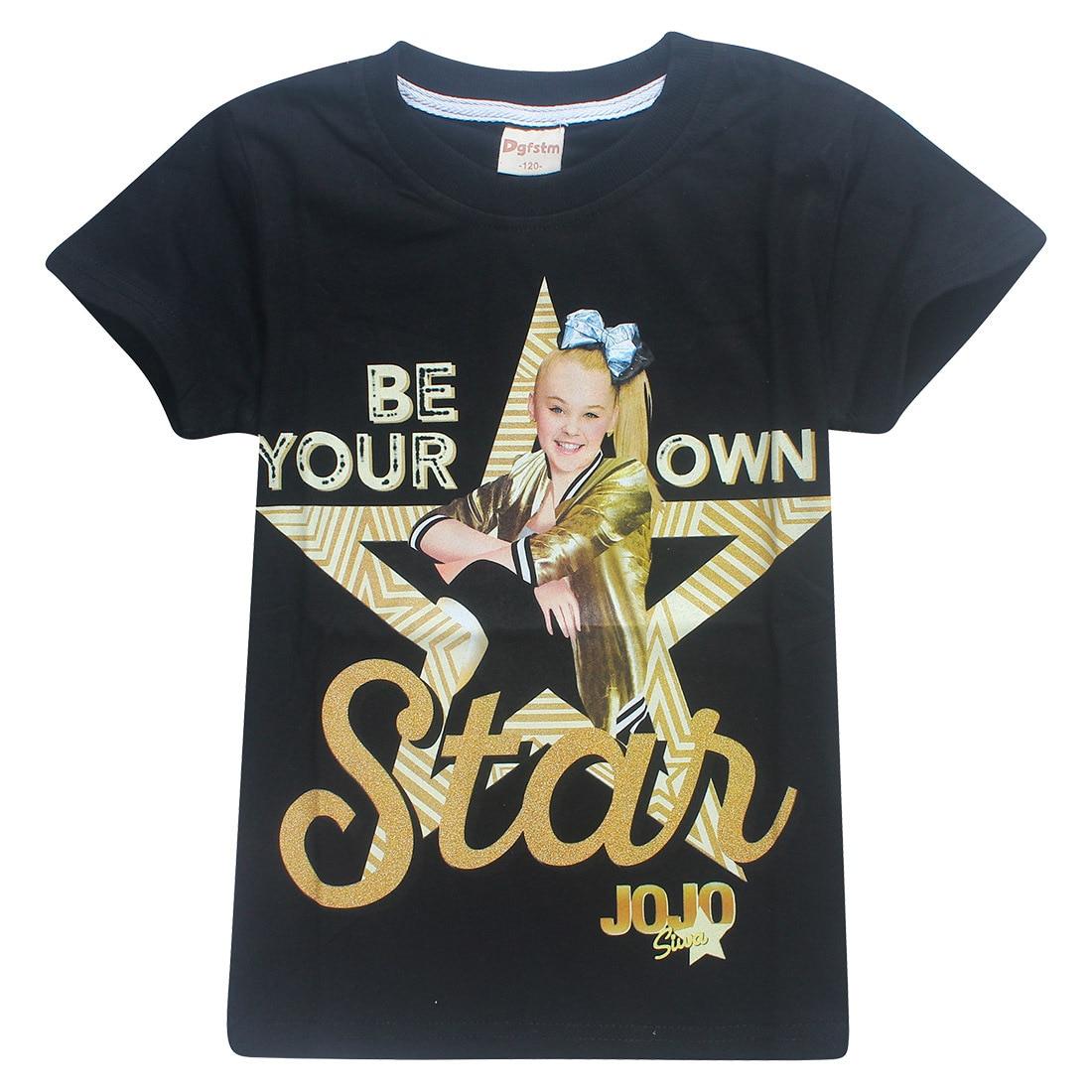 2018 New Summer Jojo Siwa Shirts Baby Girls Tshirts Short Sleeve T Shirts for Kids Bobo Choses T-shirt Child Sport Clothes 4-12Y new 2015 summer children t shirts baby clothes child 100
