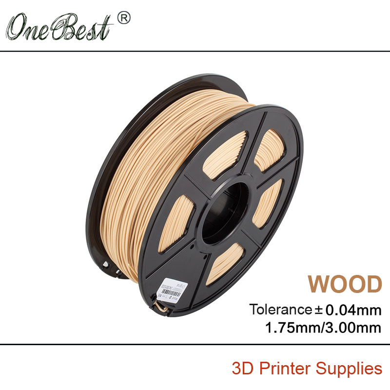 ShenZhen OneBest Technology Company Limited High quality Imports wood 3D printer supplies 1.75mm 3.0mm 3D printing supplies for DIY Materials Can be polished Free shipping