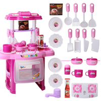 Children Kitchen pretend play Toys Set classic kitchen electronic portable toy stove toy play set gift for girls