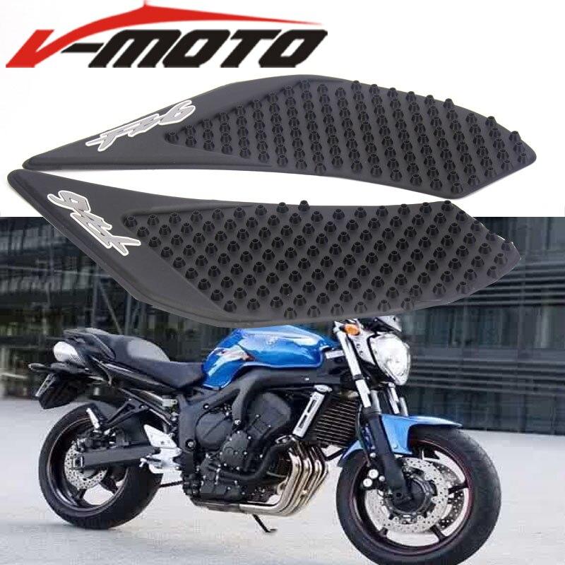 Motorbick Gas Tank Pad Traction Side Knee Grips Calcoman/ías Protector Para Yamaha FZ6 2006-2010