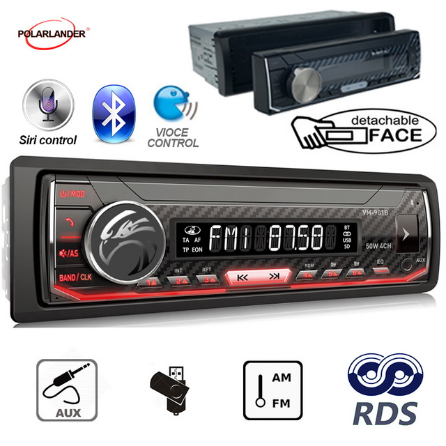 Bluetooth 1 din Support Android 7.0 or Above Car Multimedia Player Autoradio  AM / FM / RDS Radio For Iphone Siri car radio-in Car MP3 Players from Automobiles & Motorcycles