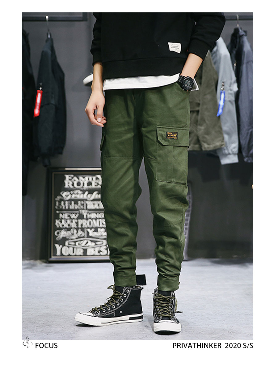 Privathinker Cargo Pants Men 2020 Mens Streetwear Joogers Pants Black Sweatpant Male Hiphop Autumn Pockets Trousers Overalls 62