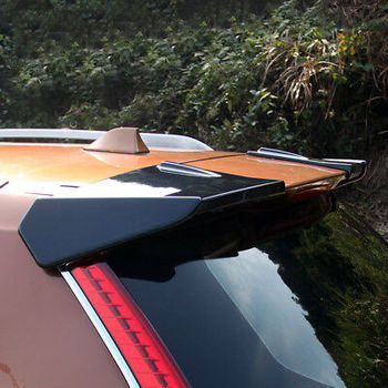 Black Rear Roof Trunk Spoiler Wing 2pcs For Nissan Rogue / X-Trail 2014 - 2018