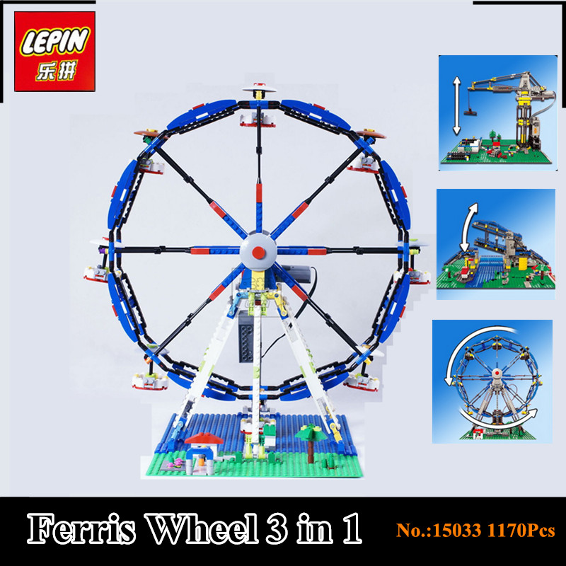 In-Stock Lepin 15033 1170Pcs Building Classic Series The Three-in-One Electric Ferris Wheel Set Building Block Bricks Toy Model time series model building on climate data in sylhet