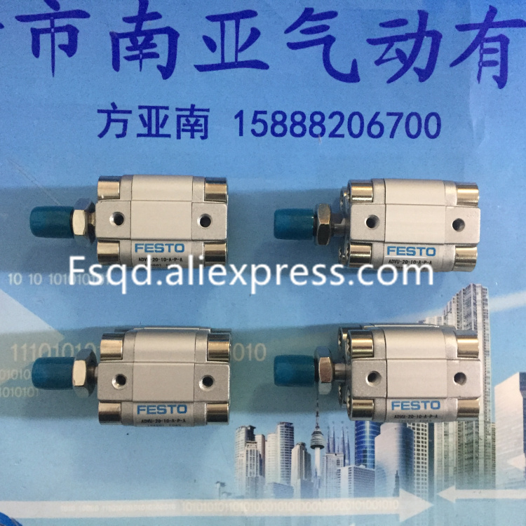 ADVU-20-5-A-P-A ADVU-20-10-A-P-A ADVU-20-15-A-P-A  ADVU-20-20-A-P-A ADVU-20-25-A-P-A FESTO Compact cylinders  pneumatic cylinder it8712f a hxs