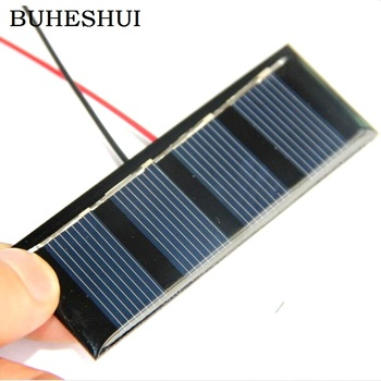 BUHESHUI 0.2W 2V Solar Cell DIY Solar Panels +Cable Module Charger For 1.2V Battery DIY Solar Toy Panel Education 78.3*28.8MM image