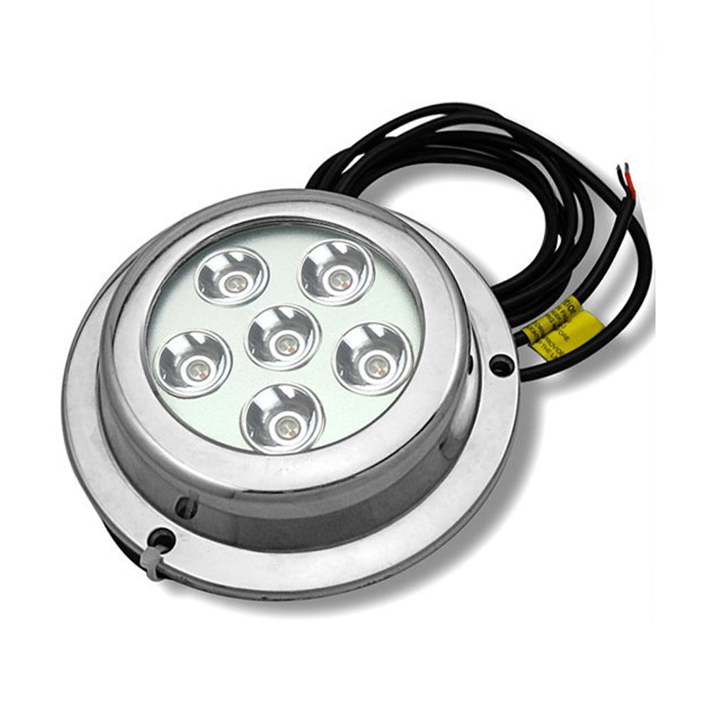 6*3w White Stainless Steel IP68 Waterproof LED Marine Underwater Light Boat Yacht light