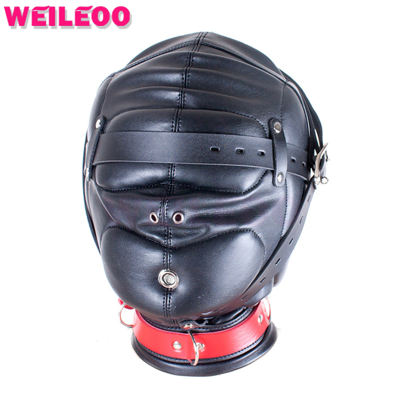 Reinforced sex mask bdsm mask erotic sex toy bdsm toy adult game fetish slave bdsm bondage restraint adult sex toy for couple camp bambino