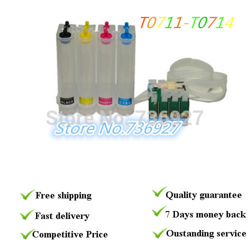 Without ink  CISS T0711 T0712 T0713 T0714 ,Suit for Epson stylus S20 S21 SX100 sx110 D78,with permanent chips ciss suit for epson stylus photo r1900 suit for t0870 t0871 t0879 series fulll dye ink ciss with arc chips
