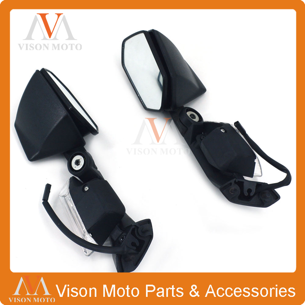 Motorcycle Side Mirror Rearview Turn Signal Rear View For KAWASAKI ZX10R ZX-10R 2008 2009 2010 2011 ZX6R ZX-6R 2005 2006 2007 08 the new motorcycle bike 2006 2007 2008 2009 2010 2011 kawasaki zx 10r zx10r zx 10r knife brake clutch levers cnc