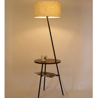The living room sofa table lamp floor lamp simple modern creative American Nordic NEW remote vertical bedroom lamp ZS118