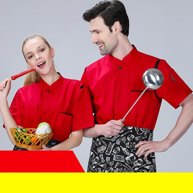 946e85b2366 M-5XL Plus Size Chefs Coat Hotel Restaurant Cook Wear Fat and Big Work  Uniform Cheap Chef Jacket with Apron Set Free Shipping