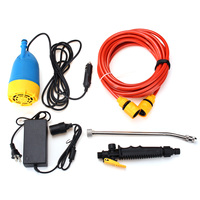 12V 80W High Pressure Car Washer Kit Water Wash Pump Car Campervan Sprayer Suit