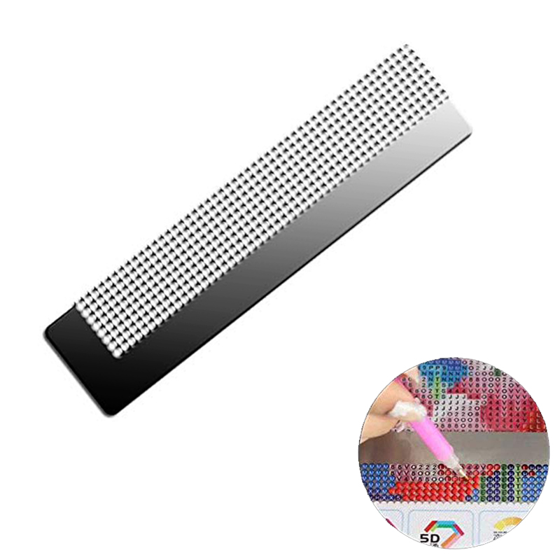 Diamond Painting Stainless Steel Ruler Blank Grids Round Drill Kit Supply G