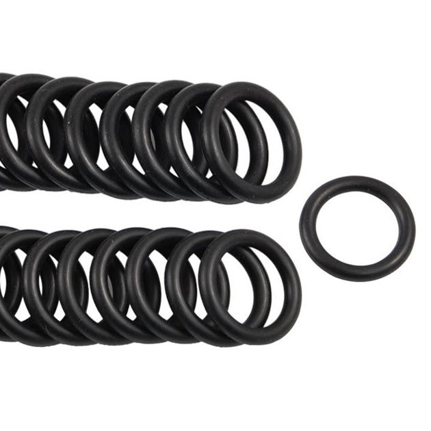 50 Pcs Black Nitrile Rubber O Ring Grommets Seal 15mm x 21mm x 3mm