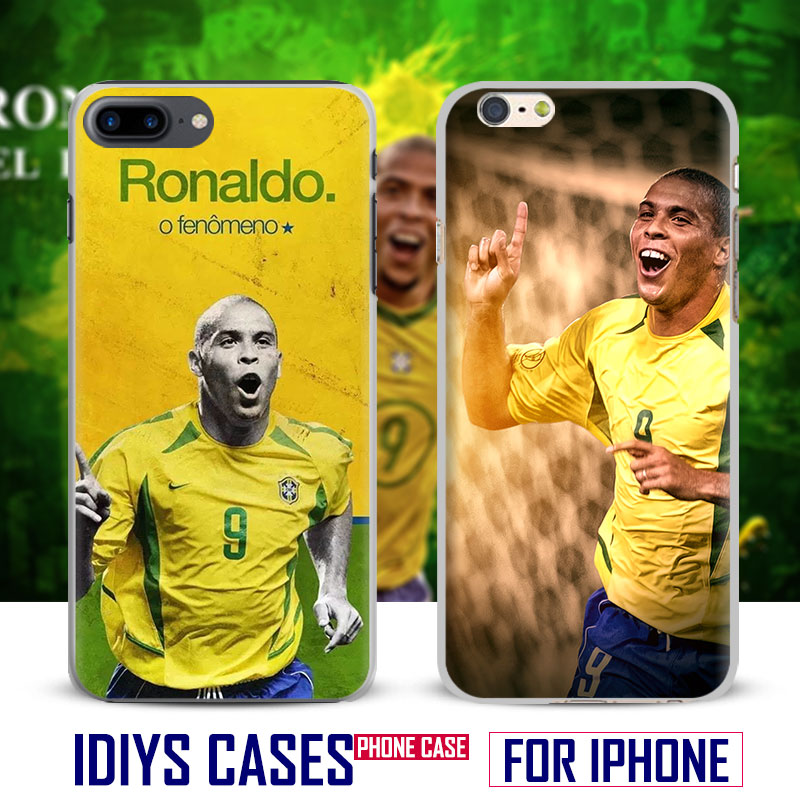 Ronaldo El fenomeno Coque Mobile Phone Case Cover Shell Bag For Apple iPhone 4 4s 5 5s SE 6 6Plus 6s 6sPlus 7 7Plus 8 8Plus X