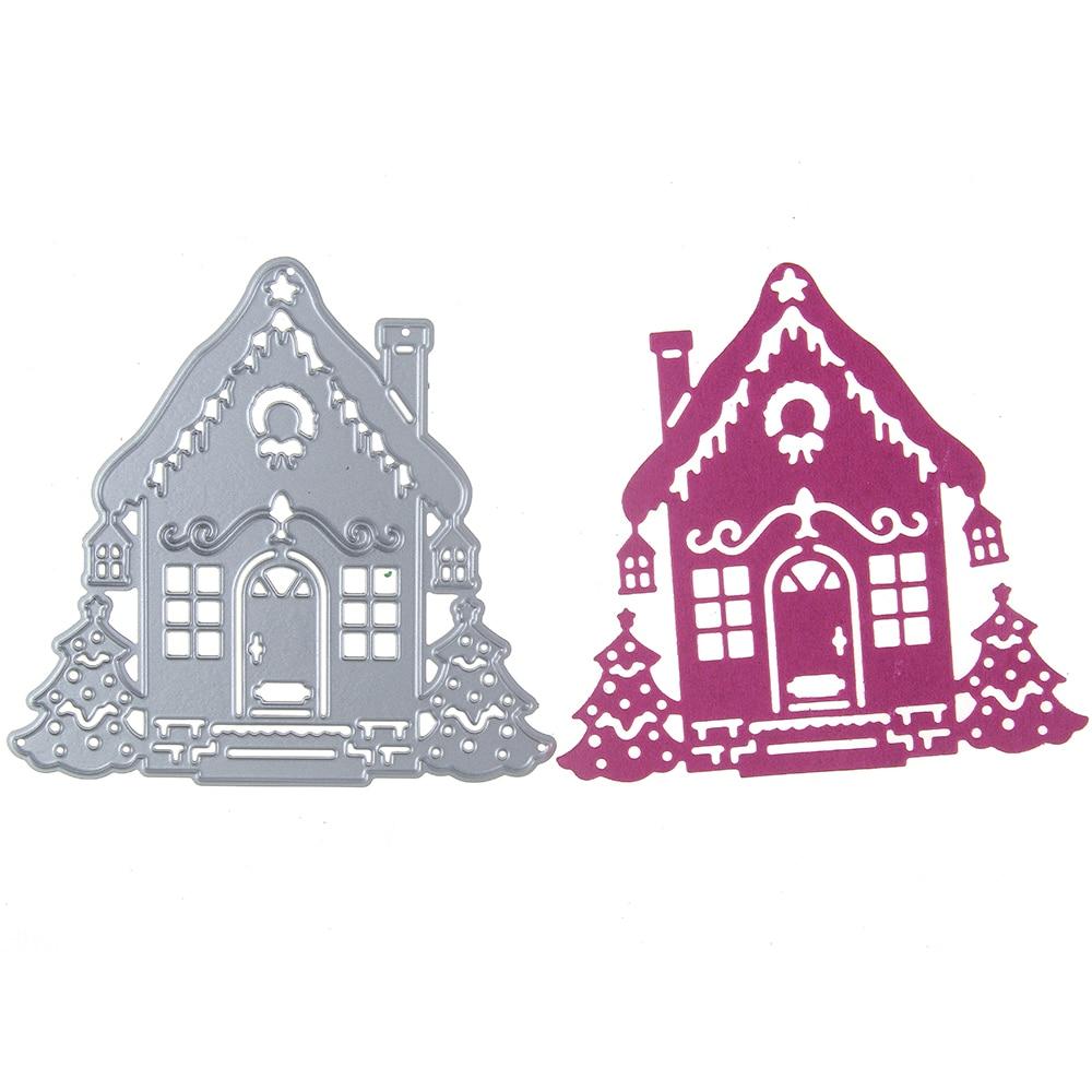 91*87mm Snow House Cutting Dies Metal Dies Scrapbooking Embossing Cut Stencils DIY Decorative Cards Home Decor