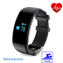 Original DFit D21 Heart Rate Monitor Smartband Waterproof Smart Band Bracelet Health Fitness Tracker Pedometer for Android iOS
