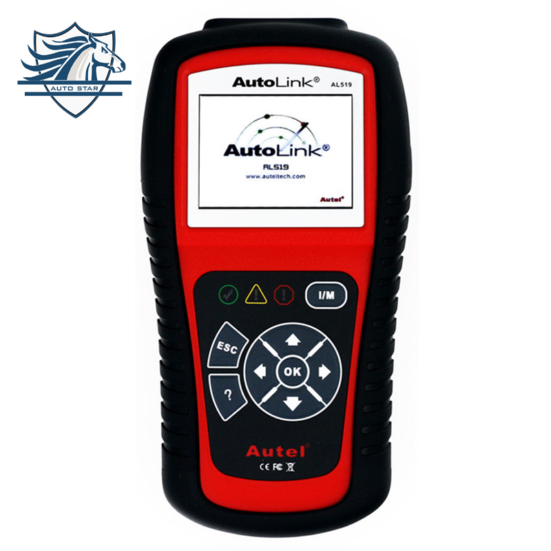Hot sale 2017 high quality Original Autel AutoLink AL519 OBD-II and CAN scanner tool by official website update Free Shipping 100% original autel autolink al519 code reader obdii eobd can scan tool updated online autolink al519 scanner free shipping