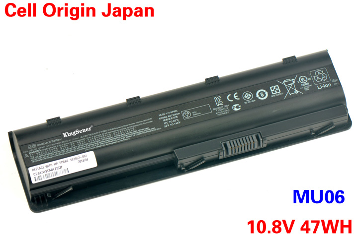 KingSener Japanese Cell MU06 Laptop Battery for HP Pavilion G4 G6 G7 CQ42 CQ32 G42 CQ43 G32 DV6 DM4 G72 593562-001 10.8V 47WH original 615279 001 pavilion dv6 dv6 3000 laptop notebook pc motherboard systemboard for hp compaq 100% tested working perfect
