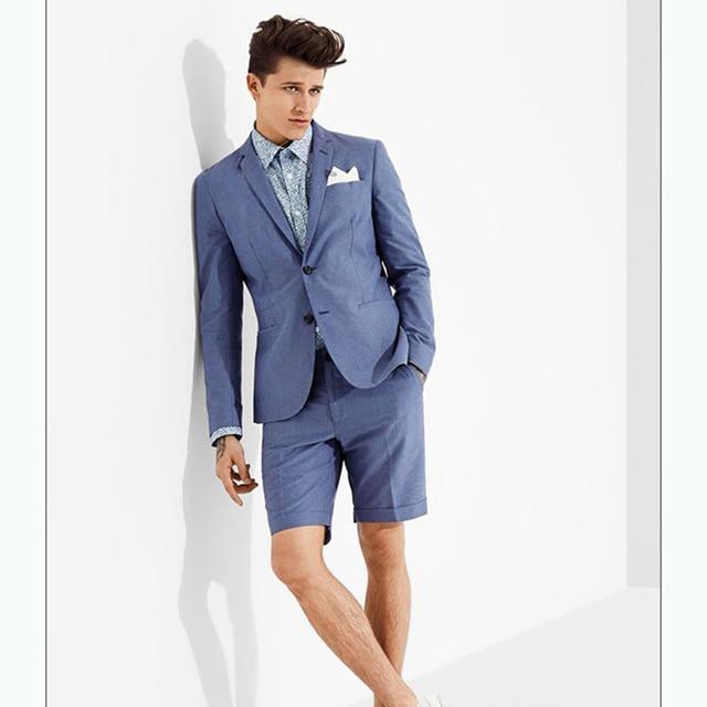 db199bc19b Custom designs Royal blue men s summer suit with trousers Wedding party  beach Boyfriend suit slim fit blazer jacket pants