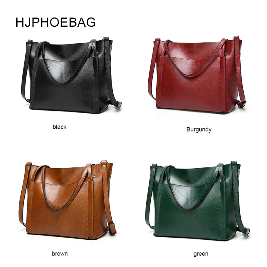 HJPHOEBAG Brand Women Leather Handbags Lady Large Tote Bag Female Pu High Quality Shoulder Bags for woman bolsos YC006 in Top Handle Bags from Luggage Bags