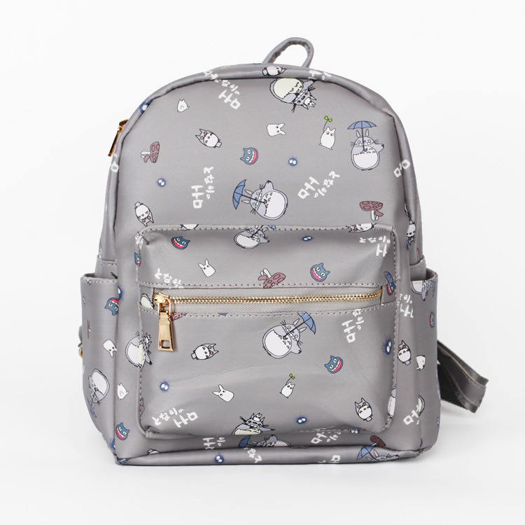 Japanese Fashion Lovely Totoro Backpacks For Women Cartoon Print Travel College Preppy Style Canvas Backpacks For