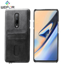 Luxury Retro PU Leather Cover For One Plus 7 7 Pro Card Slot Holder Case For Oneplus 7 7Pro Back Case Cover Fundas