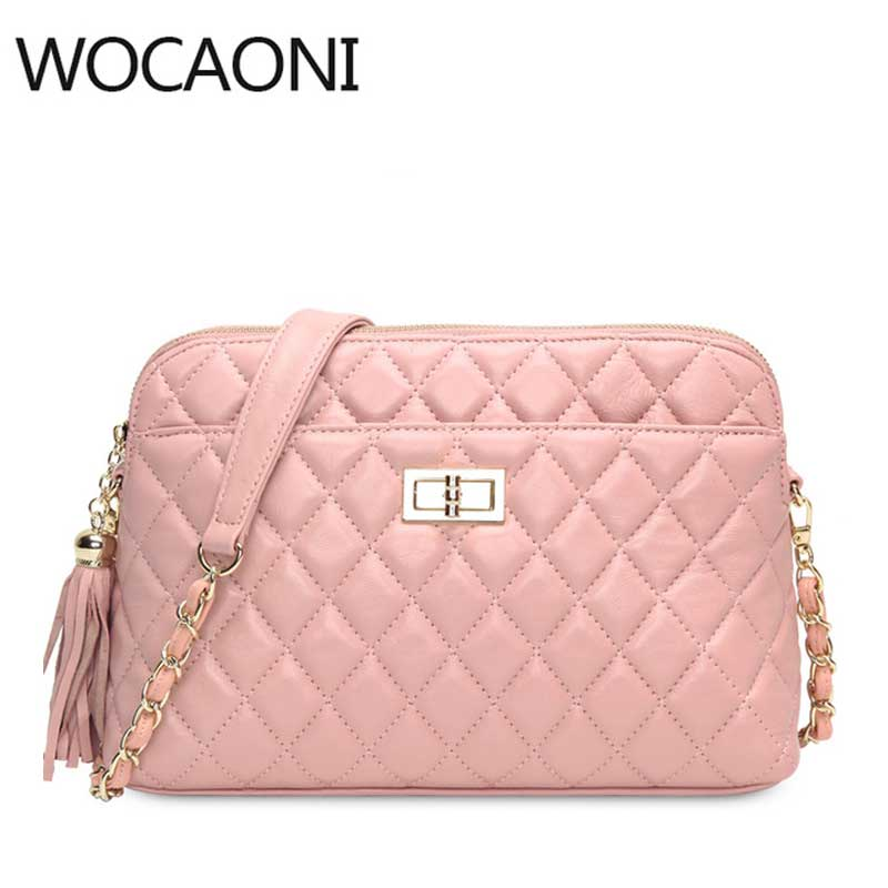 Women Messenger Bag Genuine Leather Handbag Fashion Clutch Lady Shoulder Bag Luxury Designer Handbags Crossbody for Girl цена